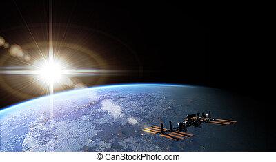 Flight - Space flight on the Earth orbit