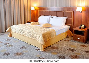 Hotel room interior  - Modern hotel room interior