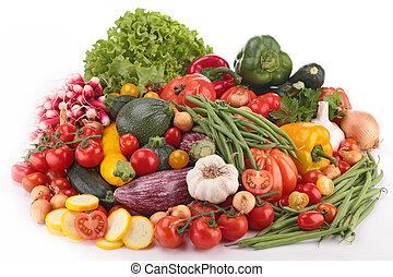 rå, grönsaken, komposition