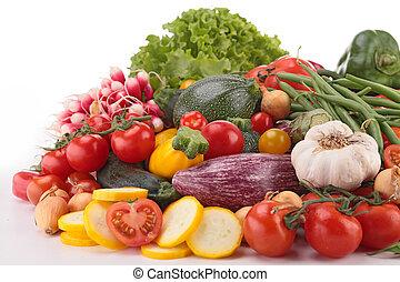 cru, legumes, Composição
