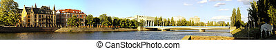 View on Ostrow Tumski in Wroclaw - Panoramic view on Ostrow...