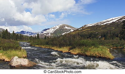 Alaskan Mountain Creek Hatcher Pass - Alaskan scenic creek...