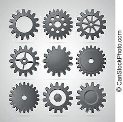 Steel cogwheels