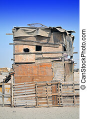 Old two-storey Hut Farm on the outskirts of Jeddah