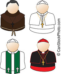 Catholic icons - Catholic priest, bishop, cardinal, pope...