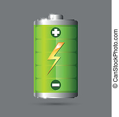 Battery icon - Fully charged green battery icon