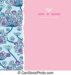 Spring Flowers Seamless Square Torn Pattern Background -...
