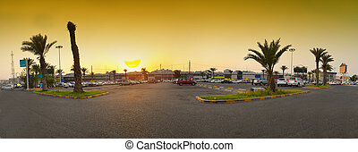Market in Jeddah at sunset