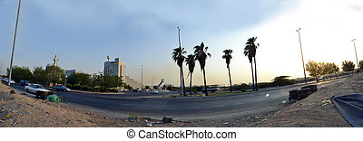 South Jeddah panoramic image A picture taken of sites in the...