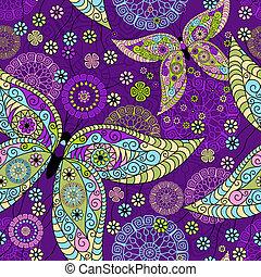 Seamless spring violet pattern - Seamless spring violet...