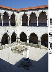 Tomar - Cloister of the Templar convent of Christ, Tomar,...