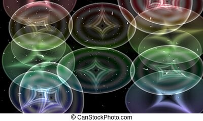 Background with motion glowing circ - Stylized abstract...