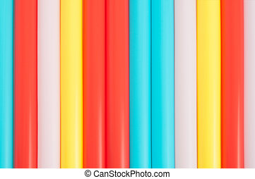 Colorful Straws - Colorful background pattern from drinking...