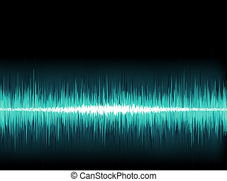 Blue sound wave on white background. + EPS8