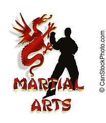 Martial Arts Logo Graphic 3D - Martial Arts Illustration...
