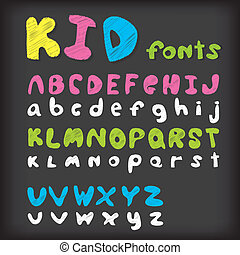 Cartoon Alphabet with All Letters - EPS 10