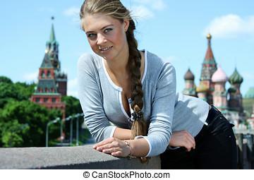 Beautiful russian girl in Moscow - Beautiful russian blonde...