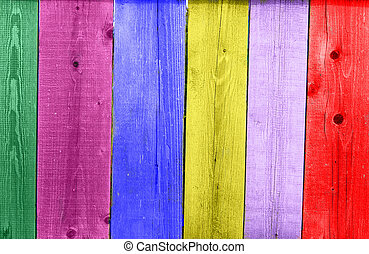Painted fence - Painted in colour miscellaneous fence old...