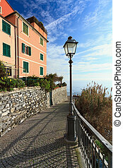 Liguria - promenade in Sori