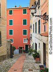 Liguria - Sori - urban scene in Sori, small village in...