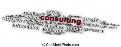 Consulting word cloud over white background