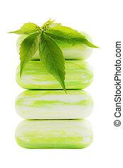 verde, jabón
