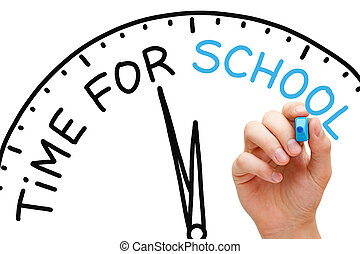 Time for School - Hand writing Time for School concept with...