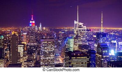 New York City Time Lapse - New York City aerial view time...