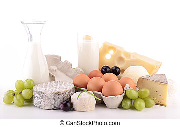 heap of dairy product