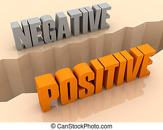 NEGATIVE and POSITIVE split - Two words NEGATIVE and...