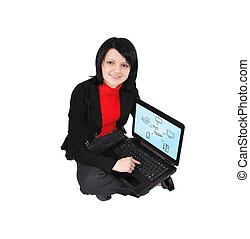 scheme wireless on screen laptop