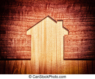 wood house - abstract image house wood concept
