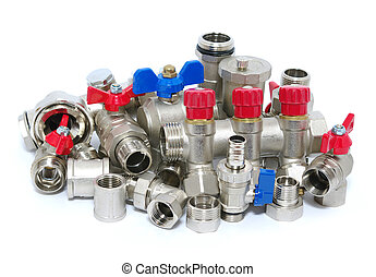 Plumbing fixtures and piping parts