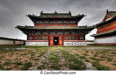 Erdene, Zuu, monastère, Karakorum, Ancien, capital,...