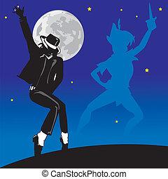 Jackson, cantor, dançarino, espírito, fantasma