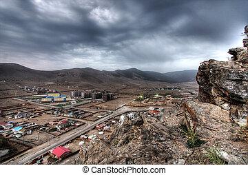 Ulaanbaatar, capital of Mongolia, view from Zaisan Tolgoi