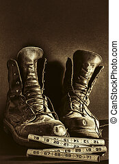 Worn Work Boots - A pair of well worn workboots as an ode to...