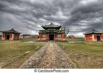Erdene Zuu Monastery in Karakorum, ancient capital of...