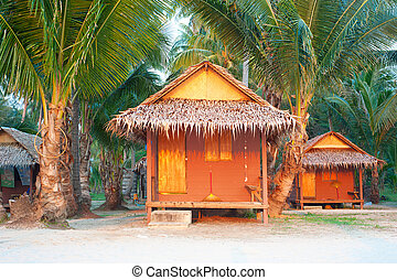 Thailand bungalow for tourist - Bamboo bungalow on the beach...