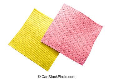 napkin - sponge napkin isolated on a white background