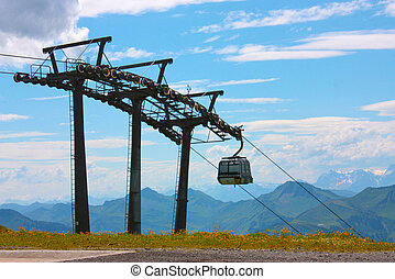 Cable Car in Austrian Alps
