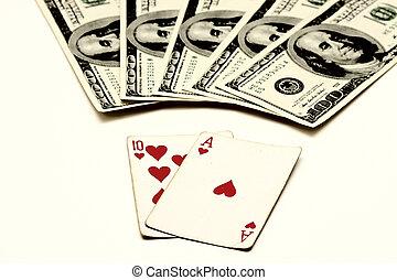 Blackjack, also known as Twenty-one, Vingt-et-un