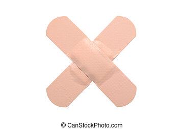 Adhesive bandage isolated on white background