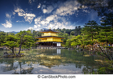 Japan's view of the Golden Pavilion Temple for adv or others...