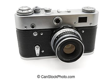 Camera of the last century - Old Soviet photo camera. Made...