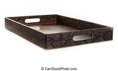 Serving tray with snake pattern