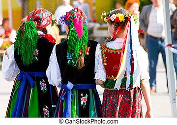 trajes, étnico