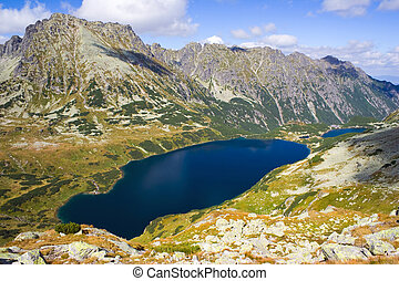 Summer in 5 lakes valley in High Tatra Mountains