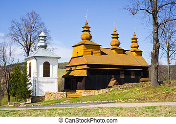 An old Orthodox church in Wislok Wielki, Beskid Niski...
