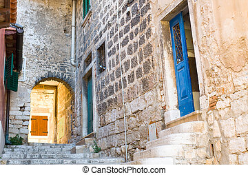 architecture of Rovinj, Croatia Istria touristic attraction...
